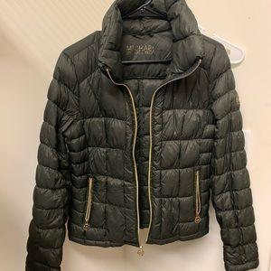Michael Kors olive green puffer jacket